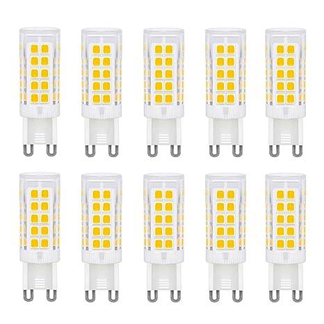 Bombilla LED de bajo consumo G9, base de cerámica, 2835SMD, 5W, equivalente