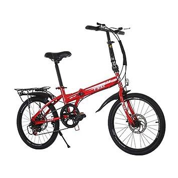 LETFF Bicicleta Plegable para Adultos De 20 Pulgadas, Bicicleta De Montaña Plegable A Prueba De