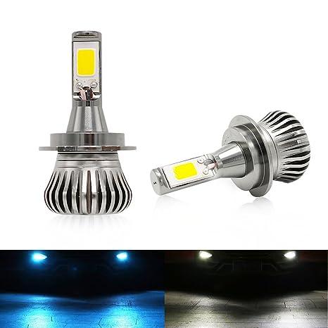 H7 Luces Antiniebla Bombillas 6000K/8000K 2400LM 20W LED Lamparas Blanco Frío,COB Chips