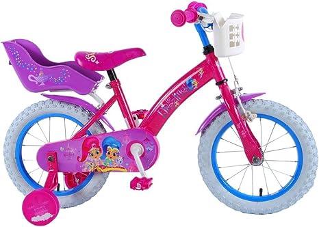 Shimmer & Shine Bicicleta Niña Chica 14 Pulgadas Frenos al ...