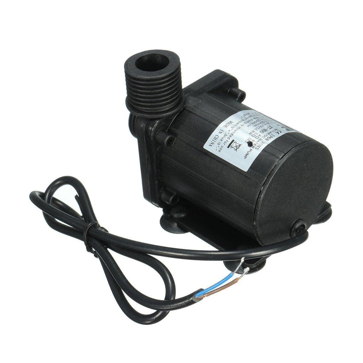 IP68 DC12V 5M 800L/H Ultra Quiet Brushless Motor Submersible Pool Water Pump