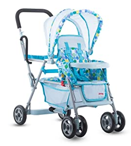 Toy Doll Caboose Tandem Stroller - Blue Dot