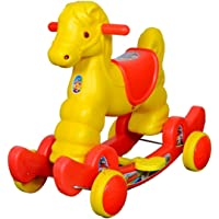 Her Home Rocking Horse Ride On for Kids - Murphy Deluxe 2-in-1 Musical Horse Rocker Cum Ride On Toy - Ideal Age - 1 Year to 3 Years, Weight Supported - Upto 25 KG