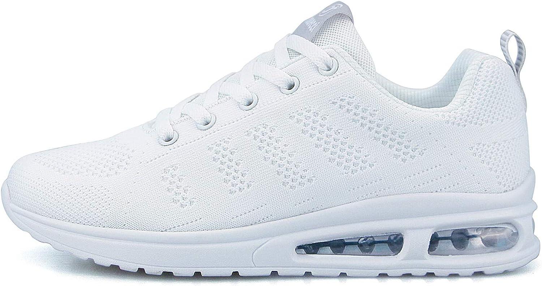 Hoylson Zapatillas de Deportivos para Mujer Running Zapatos Asfalto Ligeras Calzado Aire Libre Sneakers Blanco Negro: Amazon.es: Zapatos y complementos