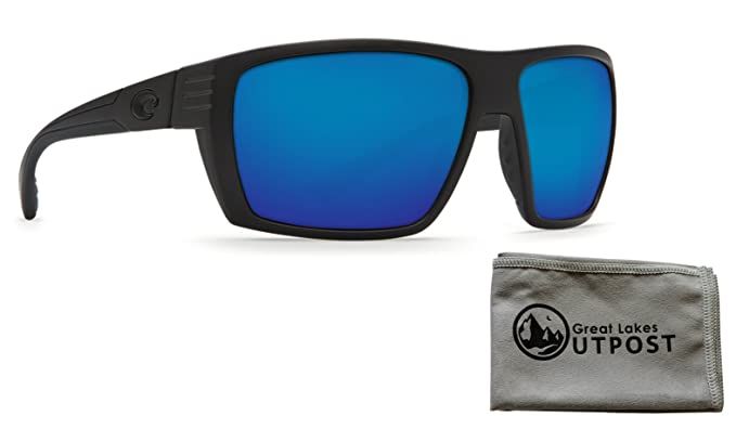 b7a807107e Costa del Mar Hamlin Blue Mirror 580P Blackout Frame Sunglasses w Cloth