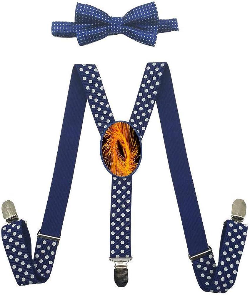 Martian Point Childrens Suspension Belt Bow Suit Fashion Art Adjustable Y-Type Suspension Belt Suit.