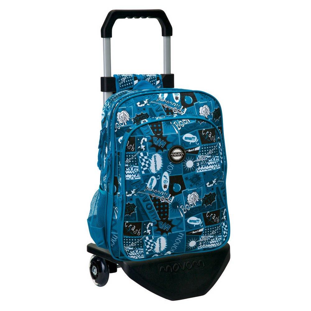Movom Mochila con Carro Doble Compartimento, Diseño Comic, Color Azul, 27.72 litros: Amazon.es: Equipaje