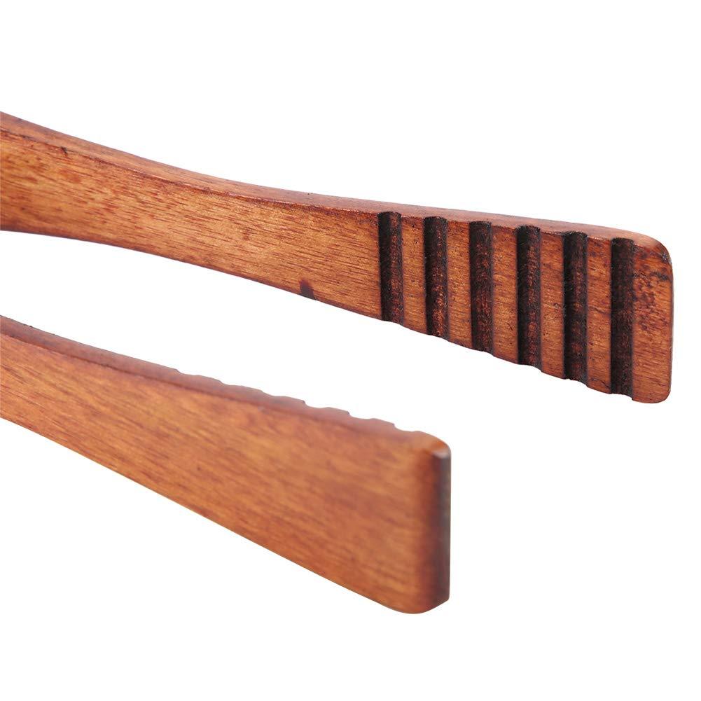 HelloCreate Pince de service en bois pour barbecue