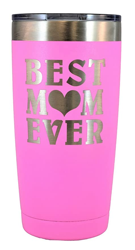 Amazoncom MOM GIFT Engraved BEST MOM EVER Stainless Steel Polar