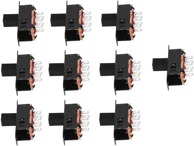 XZANTE 10 x DC 0.5A 50V 3 Position 2P2T DPDT Panneau Monte Interrupteur coulissant SS23D32