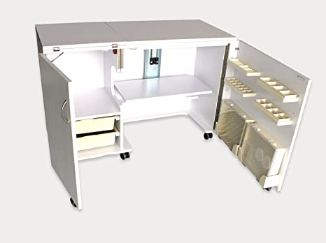 Tavolo Da Lavoro Per Cucire : Posto di lavoro con macchina da cucire sul tavolo u foto stock
