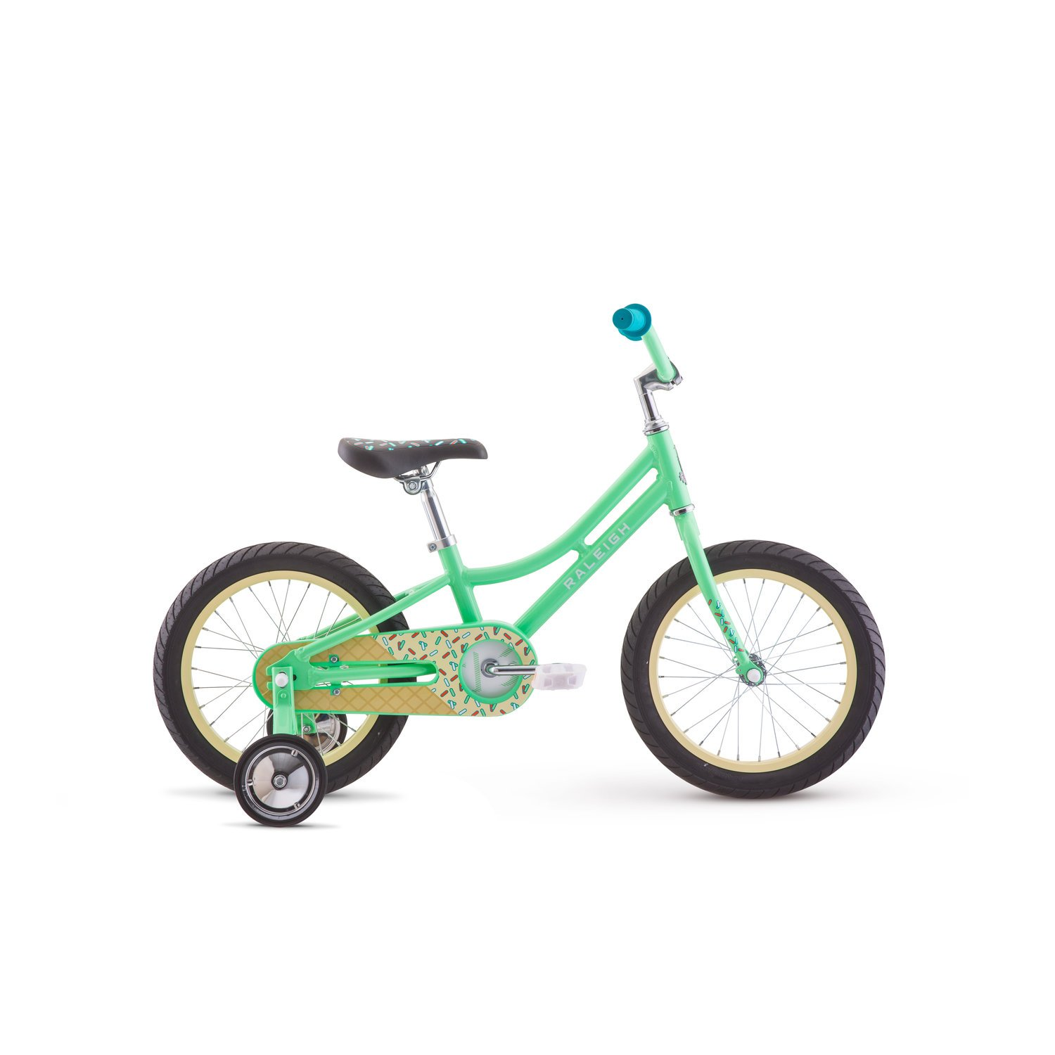 Raleigh Bikes Jazzi 16 Kids Bike with Training Wheels for Girls Youth 3-5 Years Old
