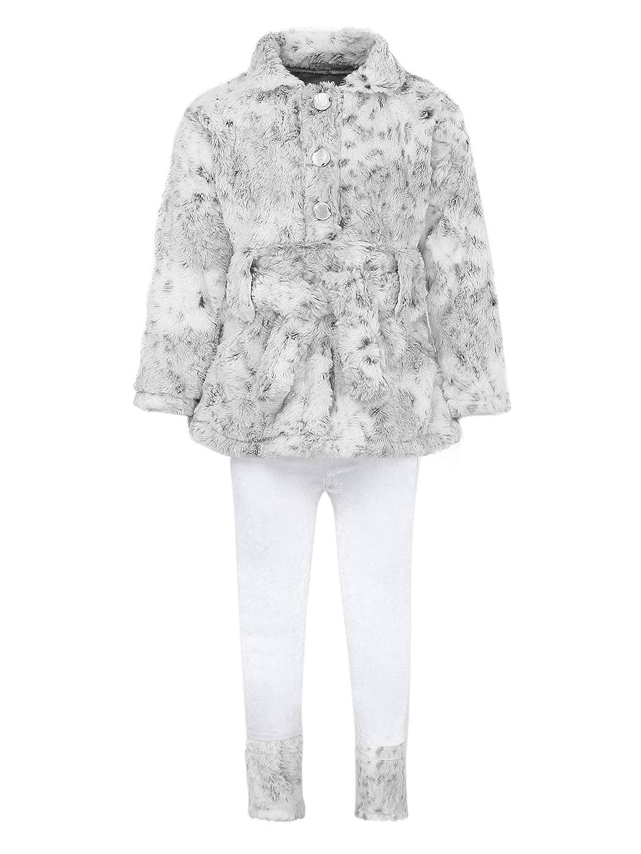 Aarika Girl's Cream Coloured Fit & Flare Clothing Set