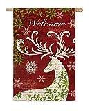 Christmas Deer Silhouette Garden Flag