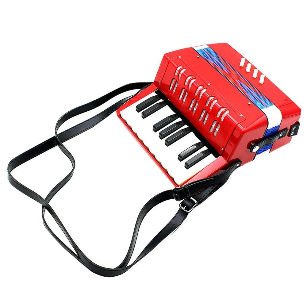 Vbestlife Children 17-Key 8 Bass Mini Small Accordion Educational Musical Instrument Rhythm Toy, Solo and Ensemble Instrument, Musical Instrument for Early Childhood Teaching