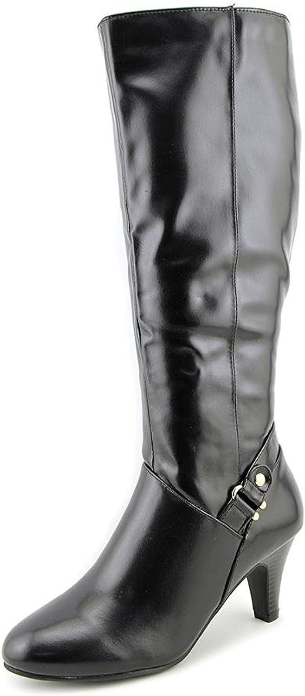 Black Karen Scott Womens Harloww Almond Toe Knee High Fashion Boots Size 7.5
