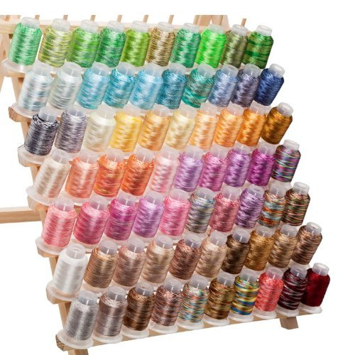 (70 Spools Variegated Embroidery Machine Thread)