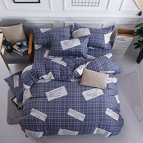 Heavenホームテキスタイル軽量マイクロファイバー羽毛布団カバーセット、印刷パターンデザイン、 キング ブルー B078MRNHCGブルー キング