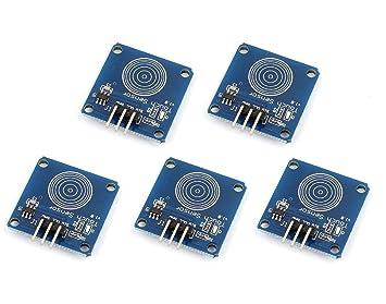 ARCELI DIY 5PCS TTP223B Módulo de Interruptor de Sensor de Contacto Capacitivo Digital para Arduino: Amazon.es: Electrónica