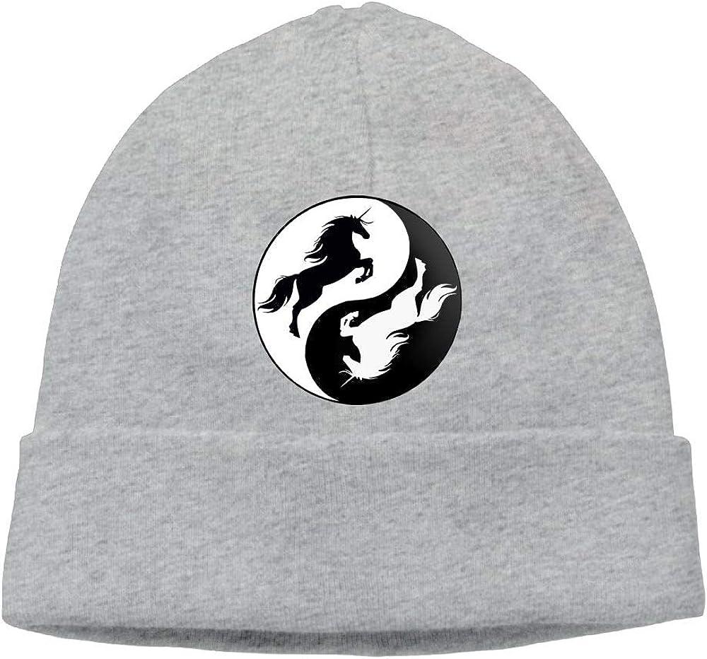 Yin Yang Unicorns Beanie Knit Hat Ski Cap Mens