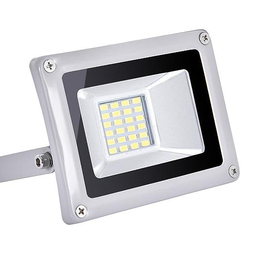 20 Watt High Power LED Flood Light, Coolkun Projector Outdoor Spotlight, Waterproof, SMD Landscape Security Lights (20W Daylight White)