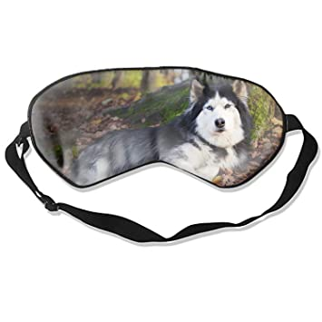 Amazon.com  Animal Husky Dogs Sleep Mask Breathable Eye Shade Sleeping Eye  Mask Cover For Men Women Kids 1821dbd6c