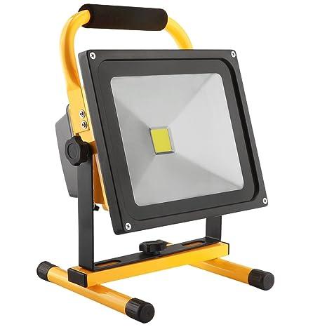 30W LED Work Light Rechargeable Portable Flood Light Battery Powered Flood  Light For Outdoor Lighting,