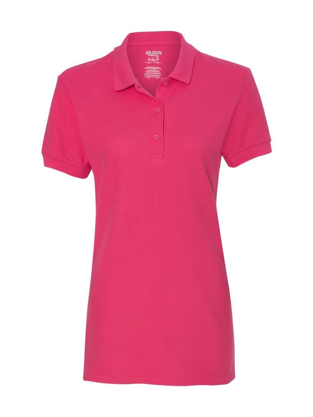 Gildan 82800L Premium Cotton Ladies Polo - Heliconia - XL
