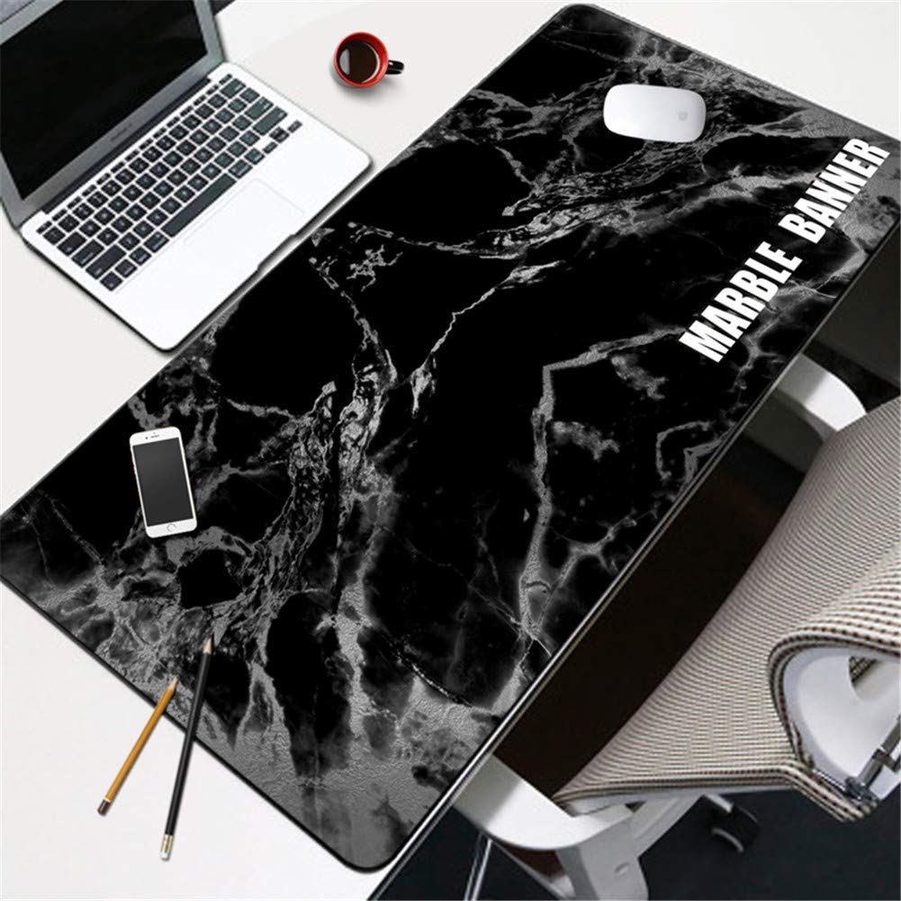Tappetino per mouse pad modello Lnzigk modello pad in marmo pad da scrivania mouse pad oversize da polso spessore notebook tastiera pad 2, Gris, 80  30 cm 48dfa7