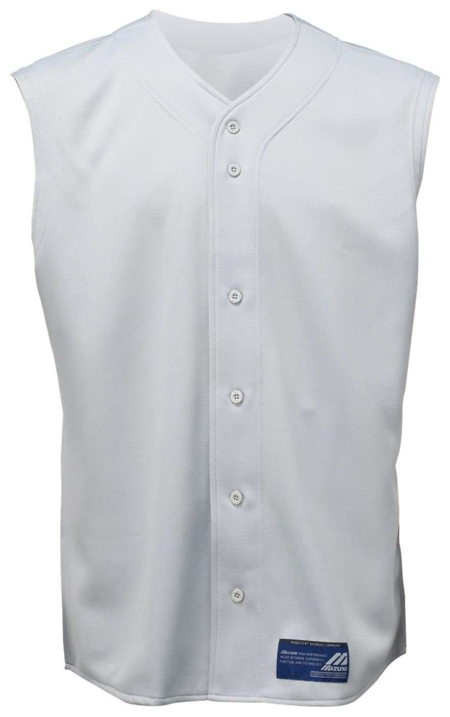 Mizuno Boy's Full Button Sleeveless Baseball Jersey, Grey, Small 350125.9191.04.S 0-3231