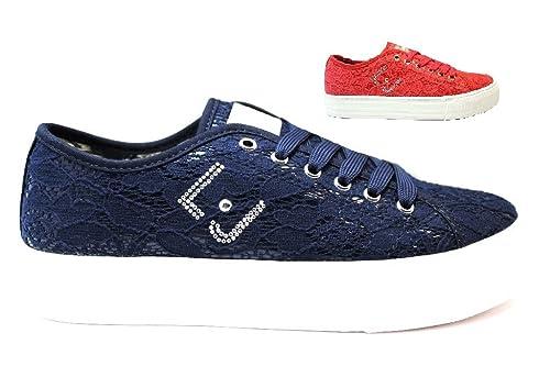 Liu Jo Girl UM22940 Blu e Rosso Sneakers Scarpe Donna Bambina Calzature  Comode