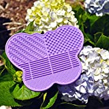 # 1 Best Silicone Makeup Brush Cleaning Mat -Butterfly shape - extend the use of your make up and art brushes! (Purple)