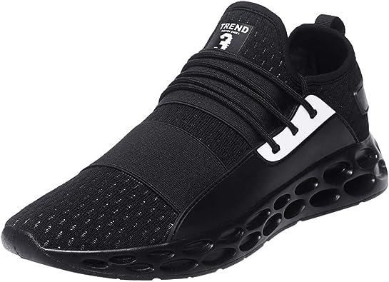 Zapatillas de Running para Hombre,JiaMeng Zapatillas Deporte Hombre Zapatos para Correr Athletic Zapatillas de Deporte Flying Weaving Zapatillas de Deporte para Hombre: Amazon.es: Zapatos y complementos
