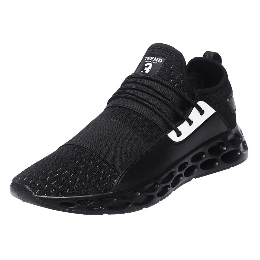 Men's Tennis Shoes - Lightweight Breathable Lace-up Sneakers for Adult Casual, 2019