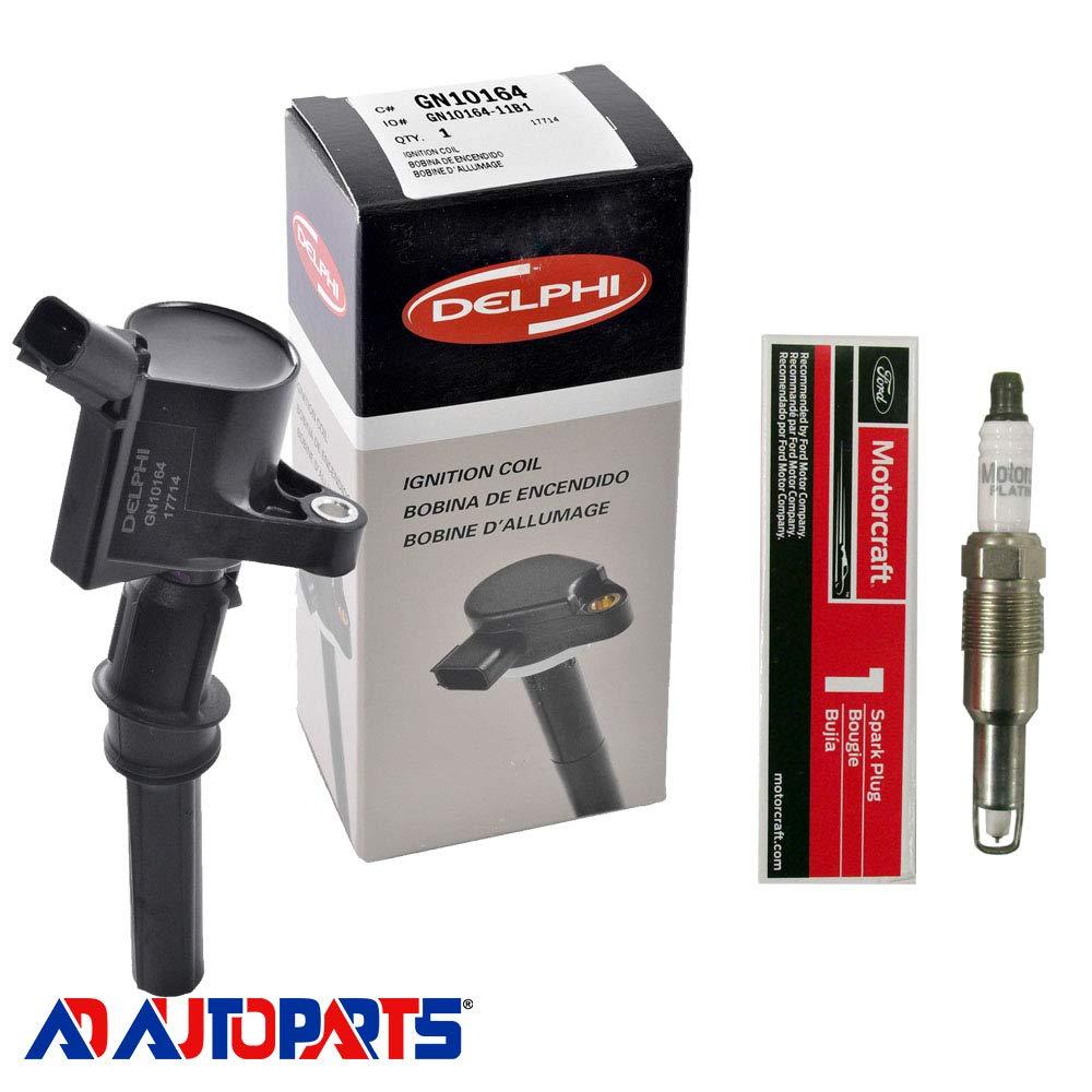 Amazon.com: AD Auto Parts Ignition Coil Pack - 1 GN10164 Ignition Coil + 1 SP546 Spark Plug: Automotive