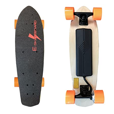 Electric Skateboard, E-skateboard, Motorized Skateboard Penny Board 300W Electric Skateboard Max speed of 11.5 MPH with up to 7 miles per charge with Remote