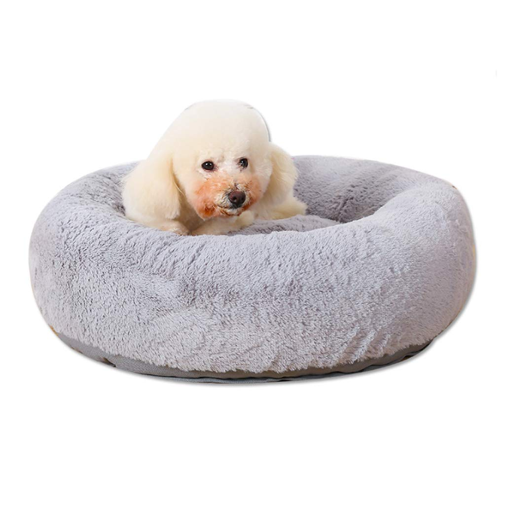 bluee S(8 kg inside pet) bluee S(8 kg inside pet) Soft Thicken Pet Nest Four Seasons Universal Round Removable And Washable Small Medium Velvet Cat Kennel Villa Warm 3 color Optional HAODAMAI (color   bluee, Size   S(8 kg inside pet))