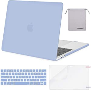 MOSISO MacBook Pro 13 inch Case 2019 2018 2017 2016 Release A2159 A1989 A1706 A1708, Plastic Hard Shell Case&Keyboard Cover&Screen Protector&Storage Bag Compatible with MacBook Pro 13, Serenity Blue