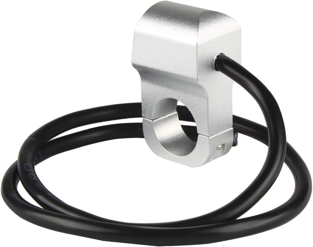 Larcele Motorrad Lenkerschalter Druckschalter f/ür Motorrad Scheinwerfer mit Ring und Leistung Symbol Kontrollleuchte Universal Durchmesser 22mm SBKG-06 MEHRWEG