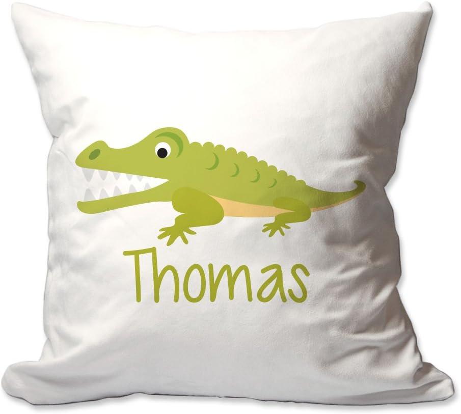 Pattern Pop Personalized Alligator Throw Pillow Home Kitchen