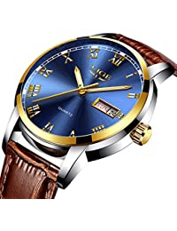 Watch Men's Luxury Quartz Casual Watch, LIGE Fashion...