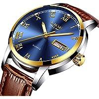 Watch Men's quartz watch roman digital Watches leather watch sport casual watches