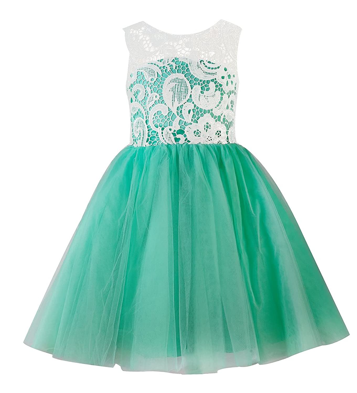 Amazon.com: Thstylee Lace Tulle Flower Girl Dress Little Girl ...
