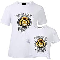 CherriGumi Good-Looking Anime One Piece Monkey D Luffy Mugiwara Pirate Print T Shirt Tees for Women