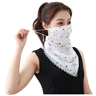 Renzhe Neck Gaiter Shield Scarf Balaclava Bandana Sun Protection UV Protective Cool Ice Silk Fabric Breathable Lightweight for Women Girls Outdoor Running Drive Golf: Toys & Games
