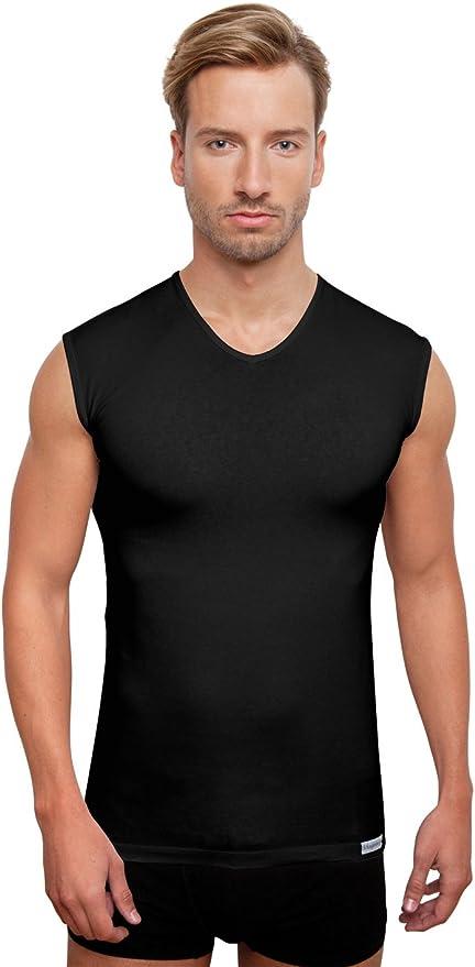 Camiseta sin mangas negra, cuello en V de Schaufenberger: Amazon.es: Ropa y accesorios