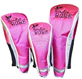 Birdie Babe Golf Club Head Covers Headcovers Set of 3 Pink, Outdoor Stuffs