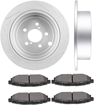 2008 2009 2010 2011 Fit Subaru Tribeca OE Replacement Rotors w//Ceramic Pads F+R