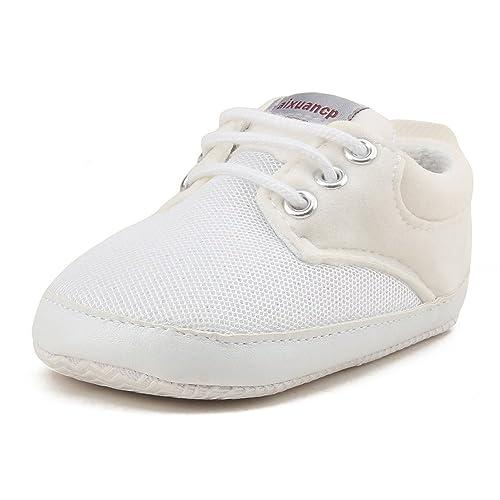DELEBAO Zapatos Bebé Niño Zapatillas Deporte Bebe Primeros Pasos Calzado Recien Nacido con Suela Suave: Amazon.es: Zapatos y complementos