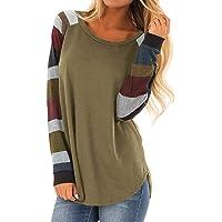 Yidarton Womens Tops Shirts Short Long Sleeve Casual Round Neck Loose Soft Pullover Sweatshirts Tunics